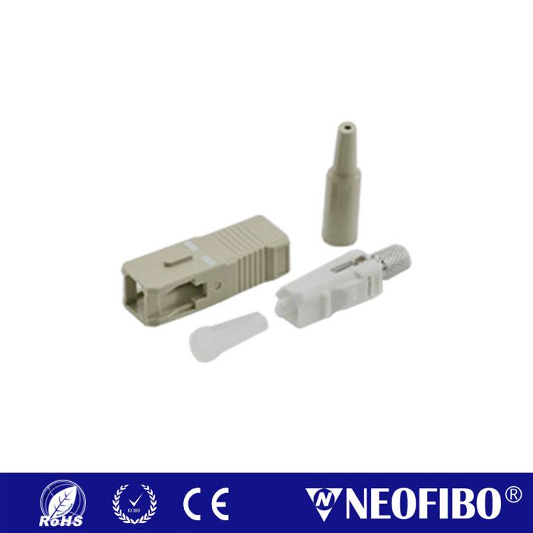 SC UPC Multi Mode Connector SC-UPC-MM(Aqua)